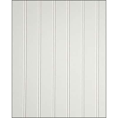 1/4 in. x 48 in. x 96 in. White MDF Beadboard Panel