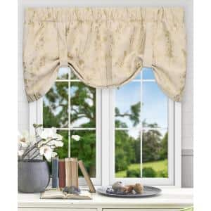 Meadow 22 in. L Polyester Lined Tie-Up Valance in Linen
