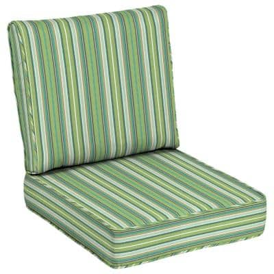 24 x 24 Sunbrella Foster Surfside Outdoor Lounge Chair Cushion