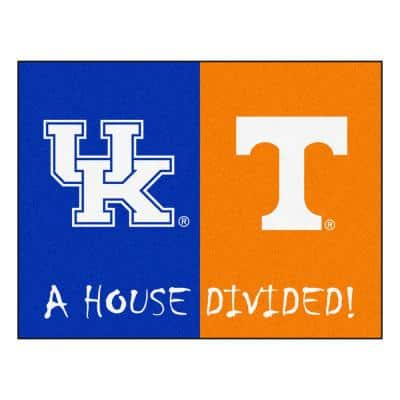 NCAA Kentucky/Tennessee House Divided 3 ft. x 4 ft. Area Rug