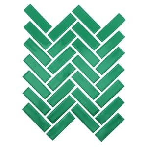 Restore Green 9 in. x 12 in. Glazed Ceramic Herringbone Mosaic Tile (0.6 sq. ft./each)