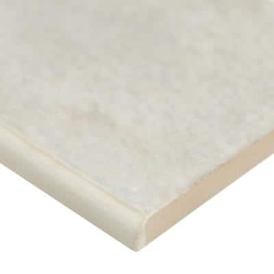 Oxide Blanc Bullnose 3 in. x 18 in. Matte Glazed Porcelain Wall Tile (10 pieces / case)