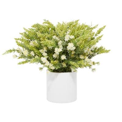 Indoor White Ceramic Natural Plant Artificial Foliage