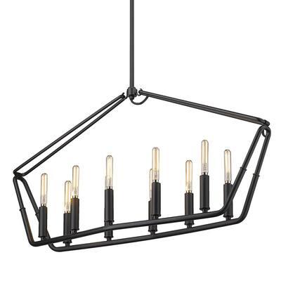 Corbin 10-Light Natural Black Linear Pendant