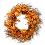 28 in. Pumpkin Wreath