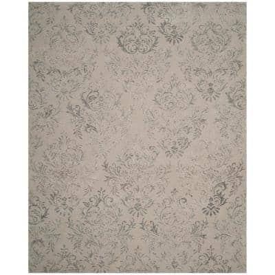 Glamour Gray 8 ft. x 10 ft. Floral Area Rug