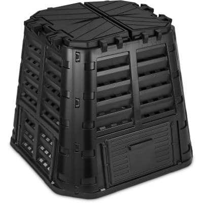 110 Gal. (420 l) Large Compost Bin -Easy Assembly, Lightweight Garden Composter Bin Made from Recycled Plastic,