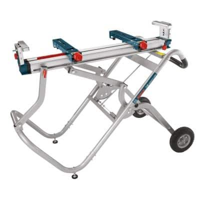 Portable Folding Gravity Rise Miter Saw Stand with Wheels