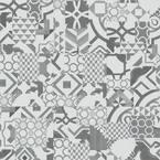 Atascosa Gray Geo Tile 18 in. W x 18 in. L Luxury Vinyl Plank Flooring (22.5 sq. ft.)