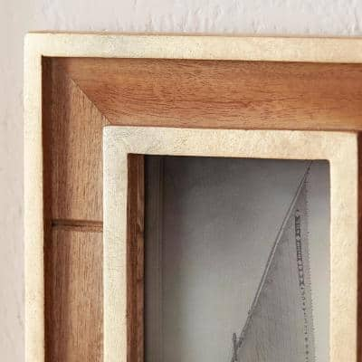 Natural Wood and Gold Gallery Wall Picture Frames (Set of 7)