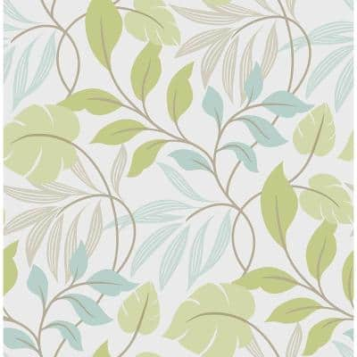 Blue And Green Meadow Vinyl Peel & Stick Wallpaper Roll (Covers 30.75 Sq. Ft.)