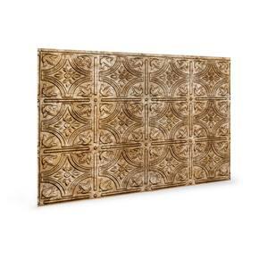 18.5'' x 24.3'' Empire Decorative 3D PVC Backsplash Panels in Bronze 9-Pieces