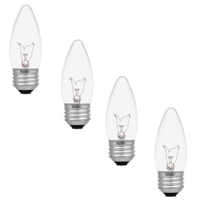 40-Watt B10 Double Life Incandescent Light Bulb in 2700K Soft White Color Temperature (4-Pack)