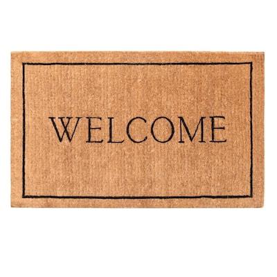Welcome Border 30 in. x 48 in. Door Mat