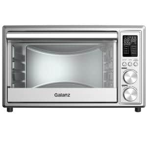 0.9 cu. ft. 1800 W 6-Slice with Air Fry Toaster Oven Digital Stainless Steel