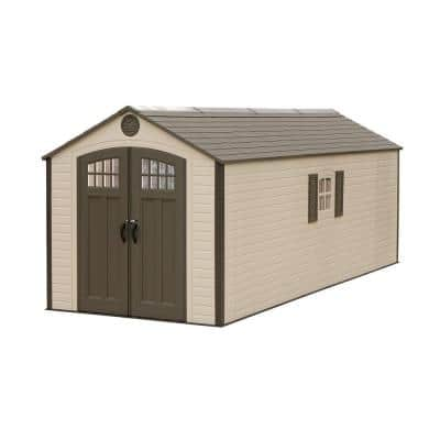 8 ft. x 20 ft. Plastic Storage Shed