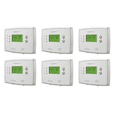 5-2 Day Programmable Thermostat with Digital Backlit Display (6-Pack)