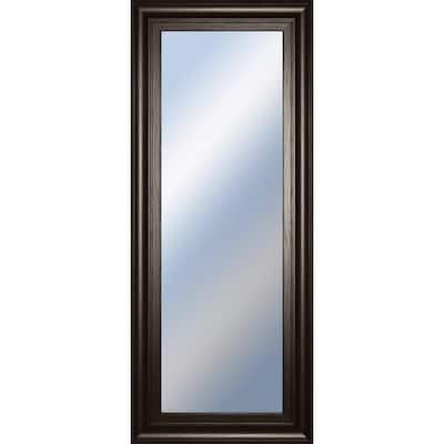 Small Rectangle Brown/Tan Hooks Classic Mirror (18 in. H x 42 in. W)