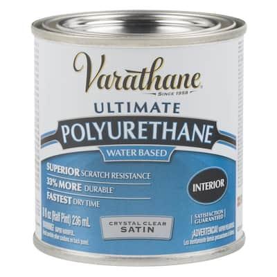 8 oz. Clear Satin Water-Based Interior Polyurethane