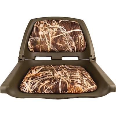 Padded Flip Boat Seat, Camouflage