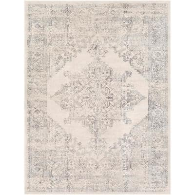 Saray Ivory 6 ft. 7 in. x 9 ft. Area Rug