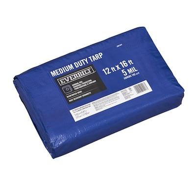 12 ft. x 16 ft. Blue Medium Duty Tarp