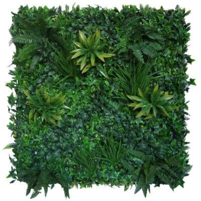 39.37 in. x 39.37 in. Green Artificial Jade Wall Panel