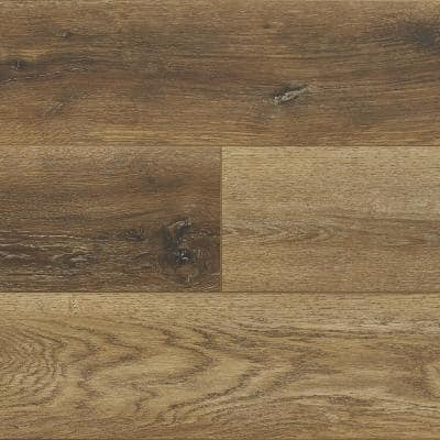Hydralock Forest Brown 7 in. W x 60 in. L Floating Vinyl Plank (29.5 sq. ft.)