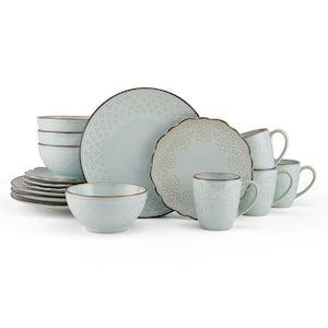16-Piece Joanne White Stoneware Dinnerware Set (Service For 4)