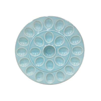 Cook and Host 25-Compartment Blue Egg Tray