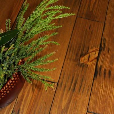 Hand Scraped Honey Dew Pine 3/4 in. Thick x 5-1/8 in. Wide x Random Length Solid Hardwood Flooring (23.3 sq. ft. / case)