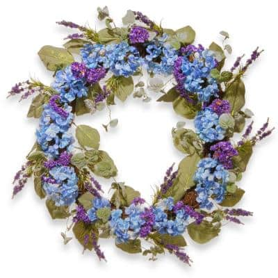 32 in. Purple Spring Wreath