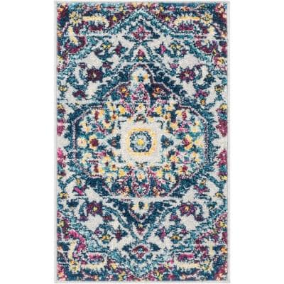 Mystic Gwendolyn Bohemian Floral Vintage Multi 20 in. x 31. in Accent Door Mat