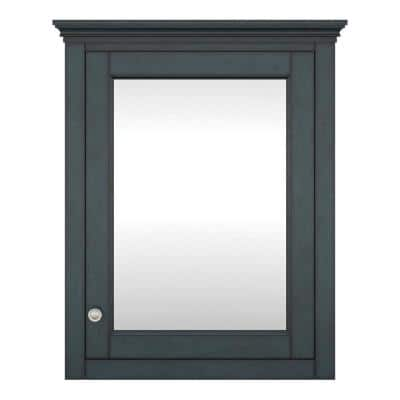Lamport 26 in. W x 32 in H Mirrored Surface Mount Medicine Cabinet in Harbor Blue