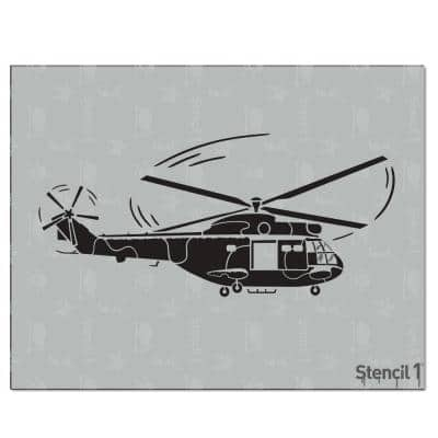 Helicopter Stencil