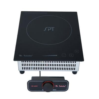 8.86 in 2100-Watt Mini Tempered Glass Induction Cooktop in Black with 1 Element