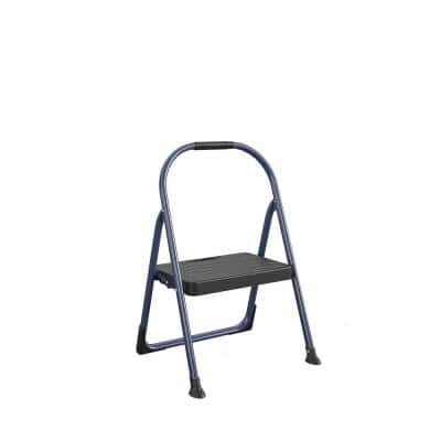 1-Step Big Step Steel and Resin Step Stool (ANSI Type 2, 225 lbs. Weight Capacity in Navy)