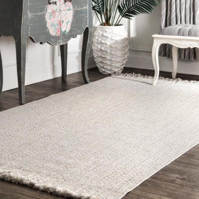 Courtney Braided Ivory 8 ft. x 10 ft. Indoor/Outdoor Area Rug
