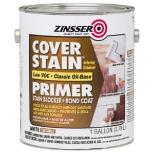Cover Stain 1 gal. White Low VOC Classic Oil-Based Interior/Exterior Primer and Sealer (2-Pack)