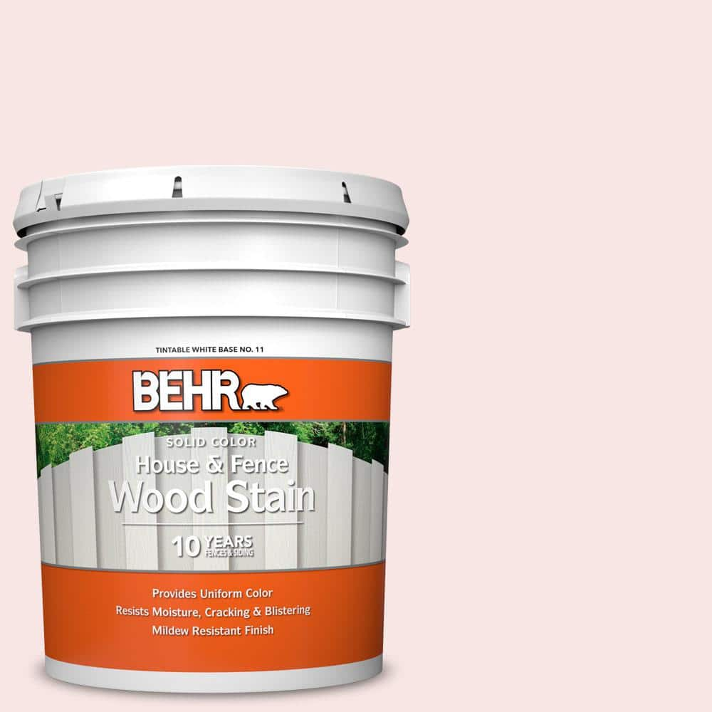 Behr 5 Gal Rd W03 My Sweetheart Solid Color House And Fence Exterior Wood Stain 01105 The Home Depot