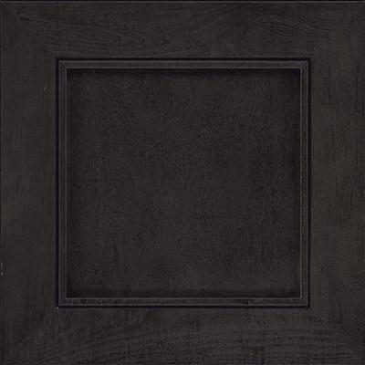 Carter 14 5/8 x 14 5/8 in. Black Cabinet Door Sample in Slate