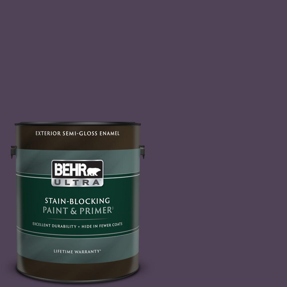 1 gal. #S-H-660 Blackberry Harvest Semi-Gloss Enamel Exterior Paint & Primer