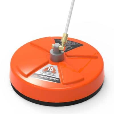 15 in. Rotary Surface Cleaner 4000 PSI for Gas Pressure Washers