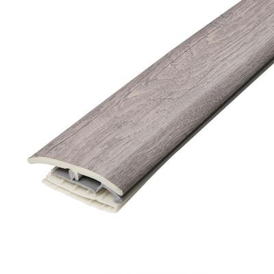 Ash 3/10 in. T x 2 in. W x 78-3/4 in. L Vinyl 4-in-1 Molding