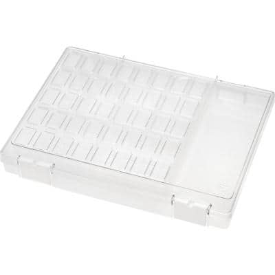 16-Compartment Craft Carry-All Case in Clear