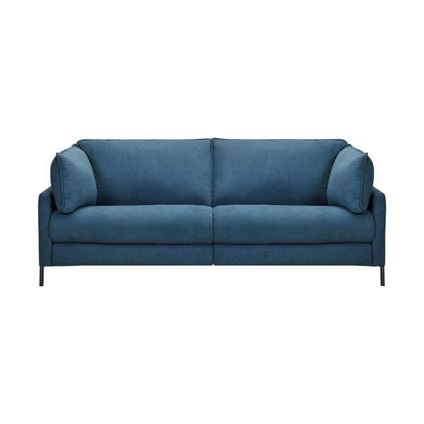 Armen Living Juliett 80 in. Modern Blue Fabric Power Reclining Sofa | The Home Depot