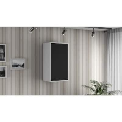 Smart Steel 2-Shelf Wall Mounted Garage Cabinet in White (14 in W x 25 in H x 11 in D)