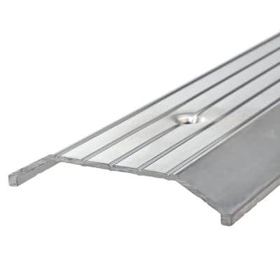 3 in. x 36 in. Silver Fluted Top Saddle Threshold