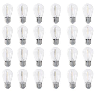 11W Equivalent Soft White (2200K) S14 String Light LED Light Bulb (24-Pack)