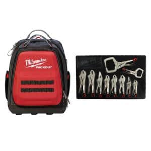 Torque Lock Locking Pliers Kit (10-Piece) with PACKOUT Backpack